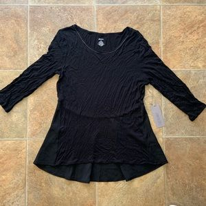 NWT Jennifer Lopez city lights black top